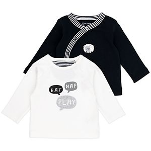 Baby Mac & Moon 2-Pack Sheep Print Long Sleeve Tees