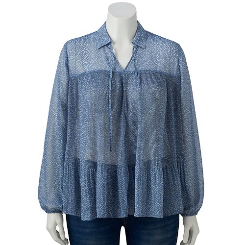 Plus Size LC Lauren Conrad Victorian Blouse