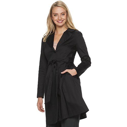 Women's ELLE™ Clean Front Trench Coat