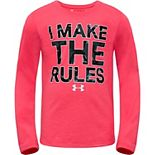 "Toddler Girl Under Armour ""I Make The Rules"" Graphic Tee"