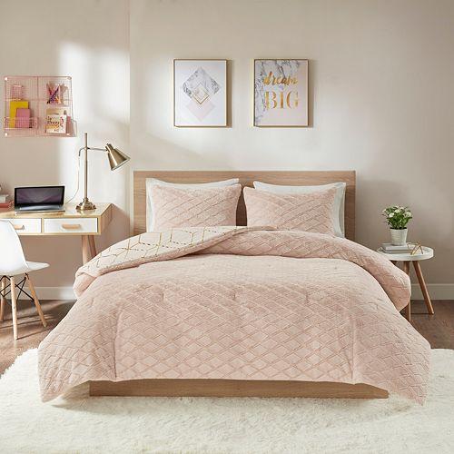 Intelligent Design Addie Metallic Print Reversible Comforter Set