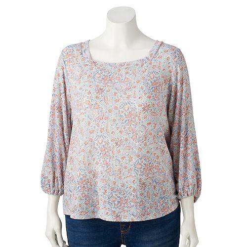 Plus Size LC Lauren Conrad Squareneck Top