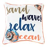 Jordan Manufacturing Printed Sand & Waves Decorative Throw Pillow