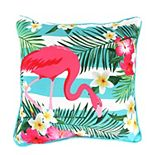 Jordan Manufacturing Printed Flamingo Decorative Throw Pillow