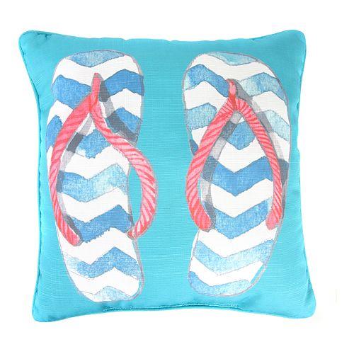 Jordan Manufacturing Printed Flip Flops Decorative Throw Pillow