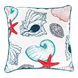 Jordan Manufacturing Printed Shells Decorative Throw Pillow