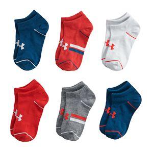 Boys 13-4 Under Armour Essential Lite 6-Pack No-Show Socks