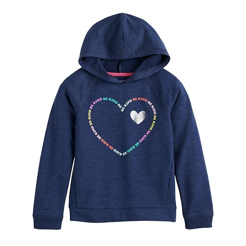 Girls 4-12 Jumping Beans® Be Kind Heart Hoodie
