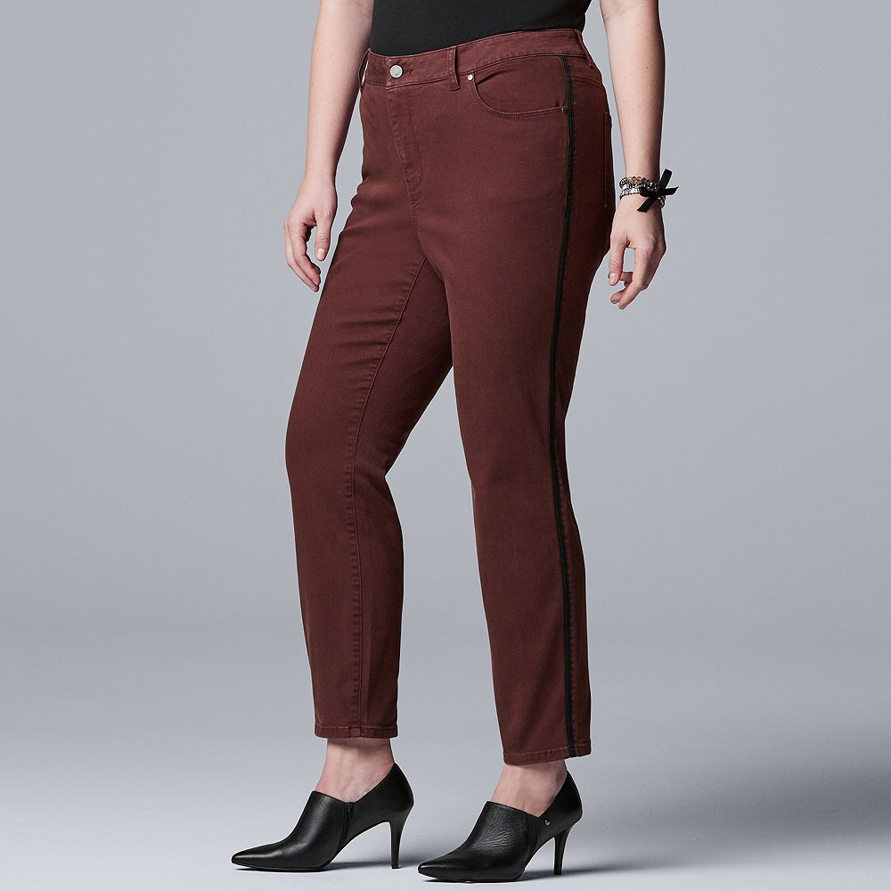 Plus Size Simply Vera Vera Wang Flex Skinny Denim Jeans