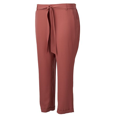 Plus Size LC Lauren Conrad Slim Fit Trousers