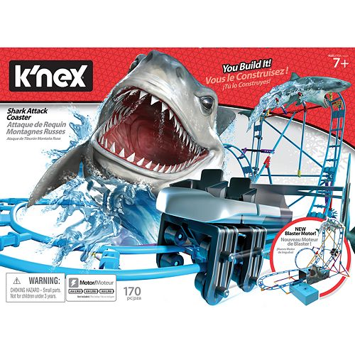 K'NEX Tabletop Thrills Shark Coaster Building Set