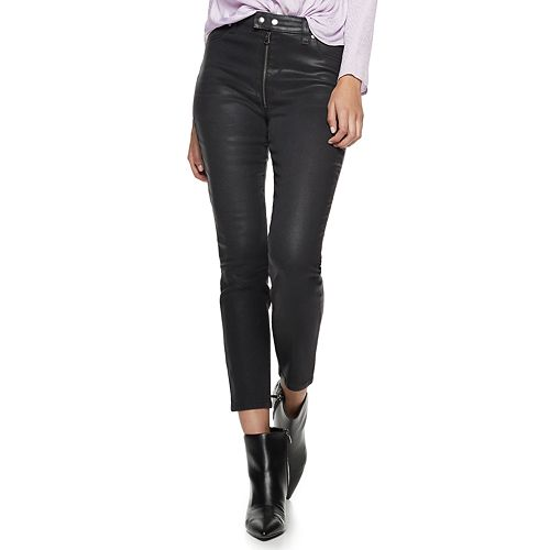 Women's Nine West Bedford Snap High-Waisted Moto Skinny Jeans