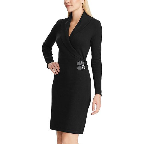Women's Chaps Shawl Collar Sweater Dress