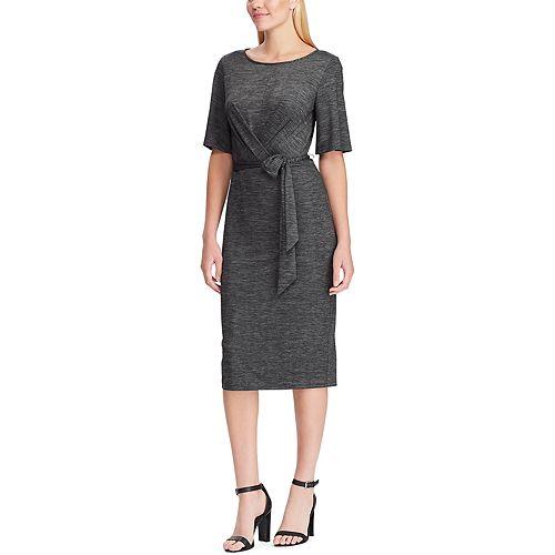 Women's Chaps Faux Wrap Sheath Dress