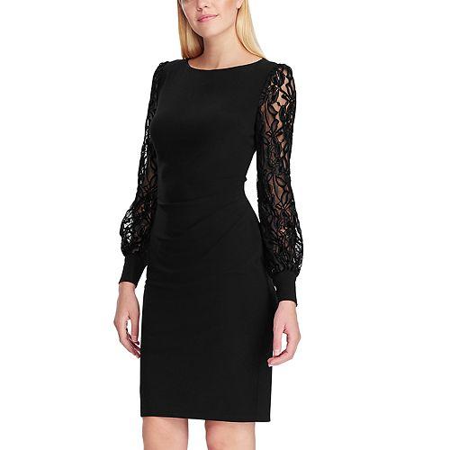 Women's Chaps Long Sleeve Side Drape Dress