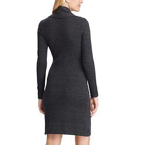Petite Chaps Shawl Collar Sweater Dress