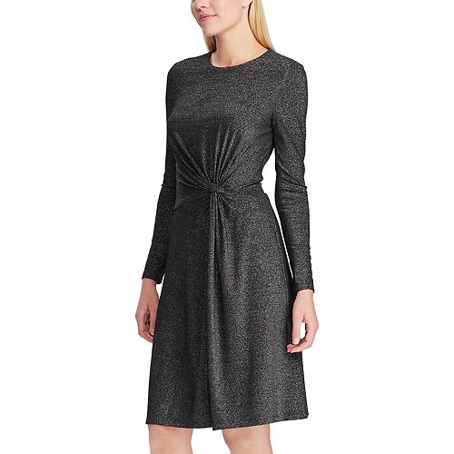 Women's Chaps Long Sleeve Fit And Flare Dress