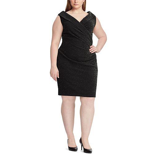 Plus Size Chaps Sleeveless Sheath Dress