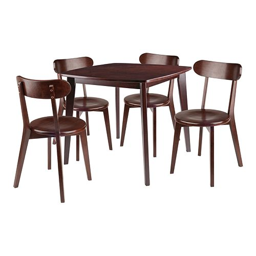 Winsome Pauline 5-Piece Table and Chairs Set