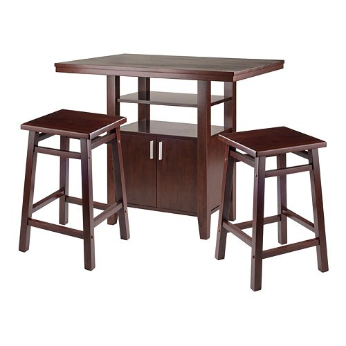 Winsome Albany 3-Piece High Table and Counter Stools Set