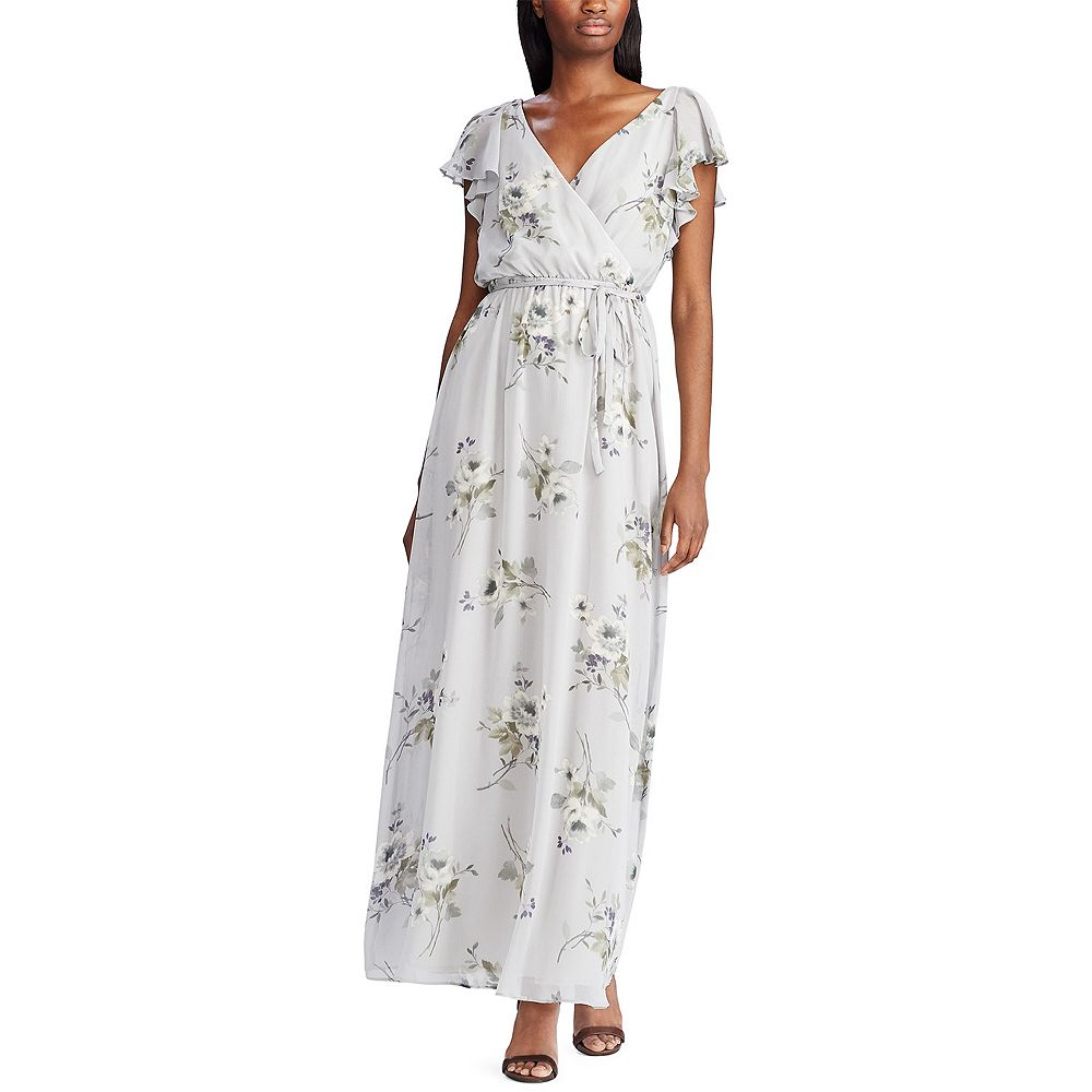 Women's Chaps Flutter Sleeve Georgette Evening Gown