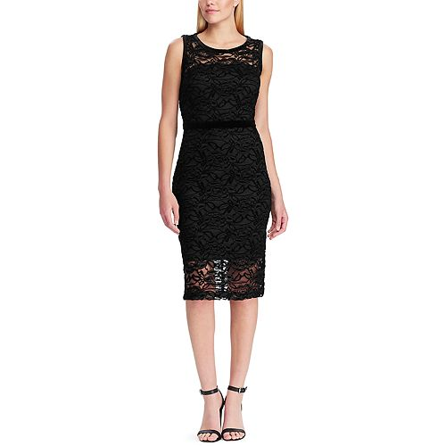 Women's Chaps Lace Midi Dress