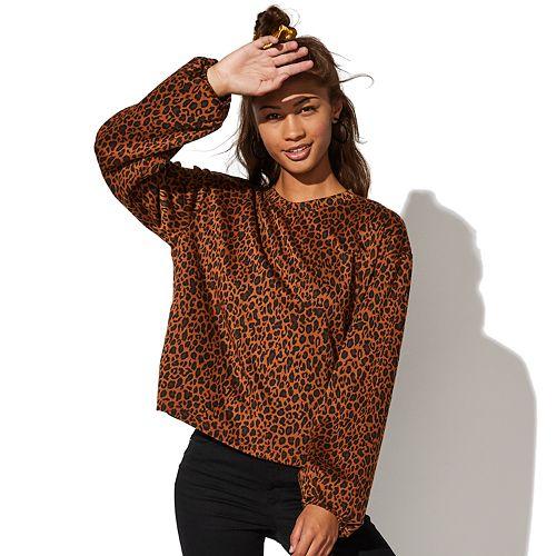 Juniors' Vylette™ Balloon Sleeve Sweatshirt