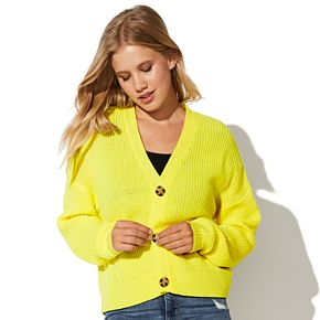 Juniors' Vylette Button Front Cardigan
