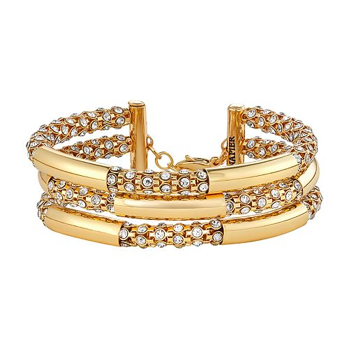 Napier Multi Row Simulated Crystal Bracelet