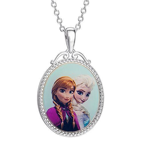 "Disney Frozen ""Best Sisters"" Oval Pendant Necklace"