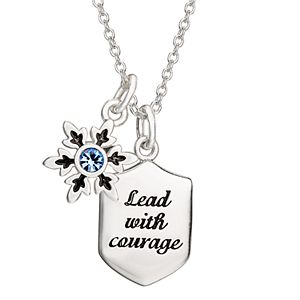 """Disney Frozen 2 """"Lead With Courage"""" Pendant Necklace"""