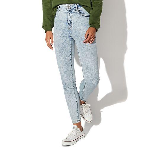 Juniors' Vylette™ High Rise Acid Wash Sculpt Denim Jeans