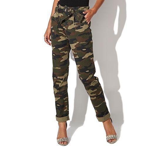 Juniors' Vylette Paperbag Waist Pants