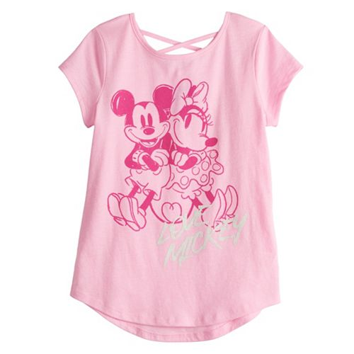 Disney's Mickey Mouse Girls 4-12 Mickey & Minnie Crisscross Back Tee by Jumping Beans®
