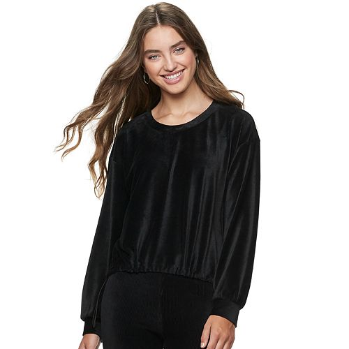 Juniors' American Rag Drawstring Sweatshirt