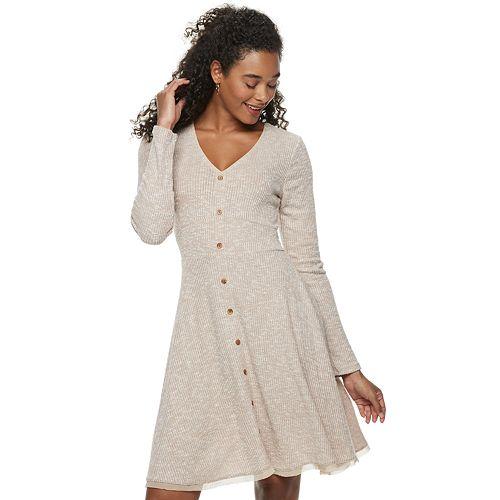 Juniors' American Rag Button Front Dress