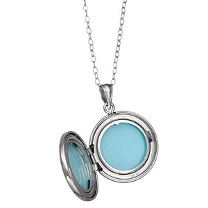 Sterling Silver Angel Wing Locket Necklace