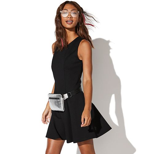 Juniors' Vylette™ Ponte Fit & Flare Dress