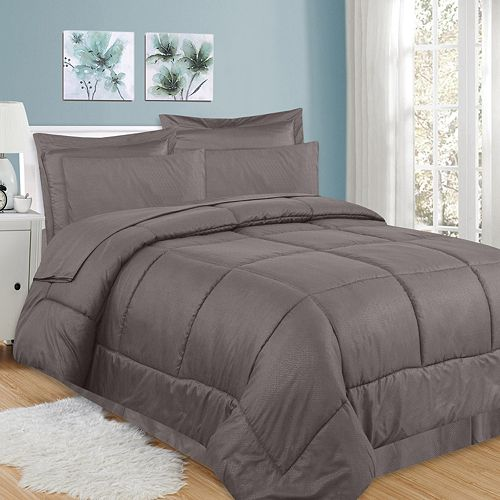 Sweethome Collection 8-piece Greek Key Bedding Set