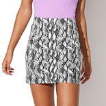 Juniors' Vylette? Seamed Mini Skirt