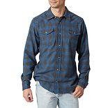 Men's Wrangler Plaid Flannel Snap-Front Western Shirt