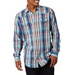Men's Wrangler Snap-Front Plaid Western Shirt
