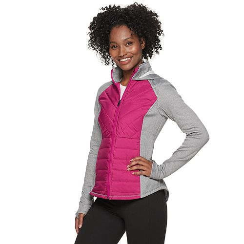 Women's FILA SPORT Mixed-Media Jacket