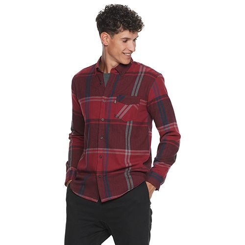 Men's Caliville Plaid Button-Down Flannel Shirt