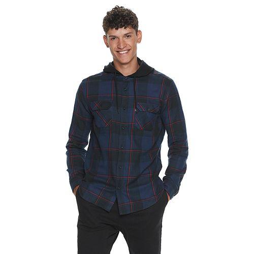 Men's Caliville Hooded Button-Down Shirt