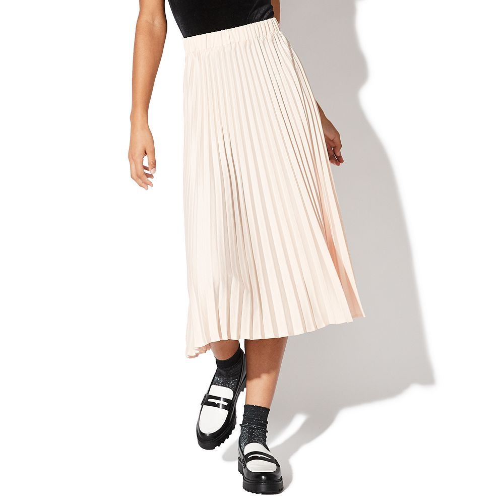 Juniors' Vylette™ Pleated Maxi Skirt