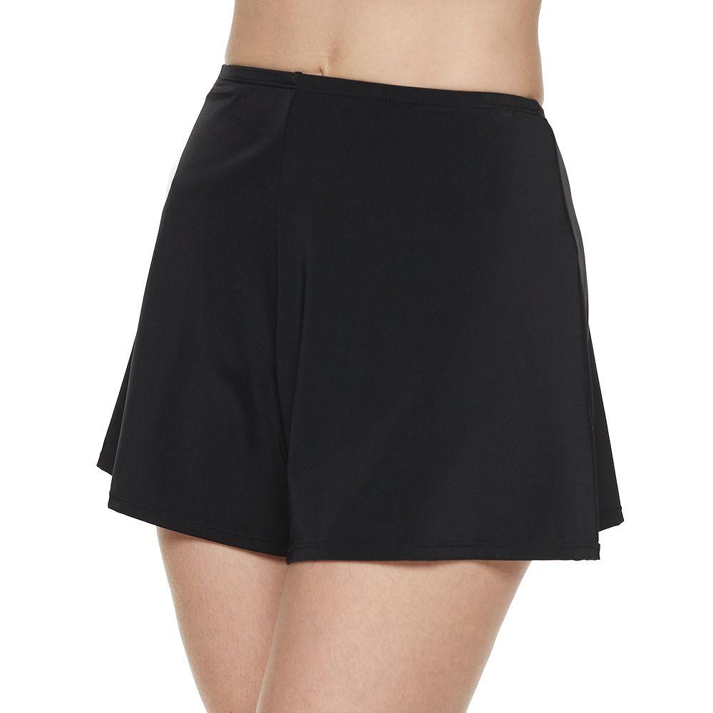 Women's A Shore Fit Hip Minimizer Solid Skortini Swim Short