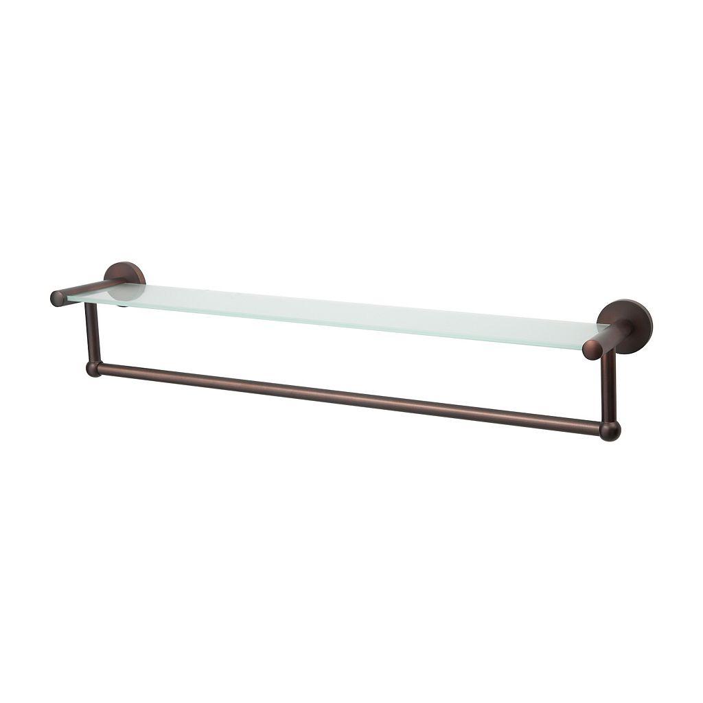 Neu Home Glass Shelf Towel Rack - Bronze