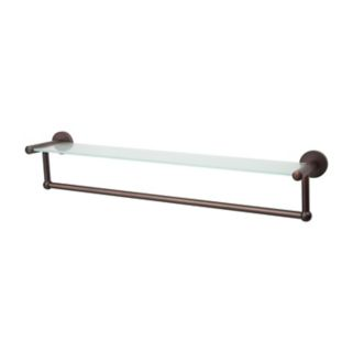 Neu Home Glass Shelf Towel Rack - Bronze