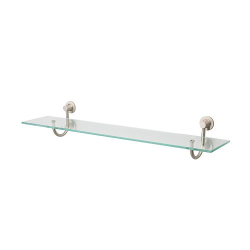 Neu Home Nickel-Mounts Glass Shelf